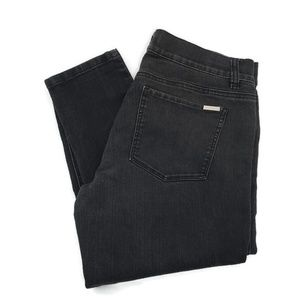 WHBM Black Distressed (Faded Look) Skinny Jeans